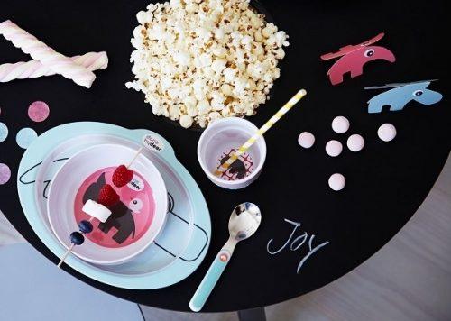 Podkładka na stół pod talerz dla dziecka Done By Deer powder różowa