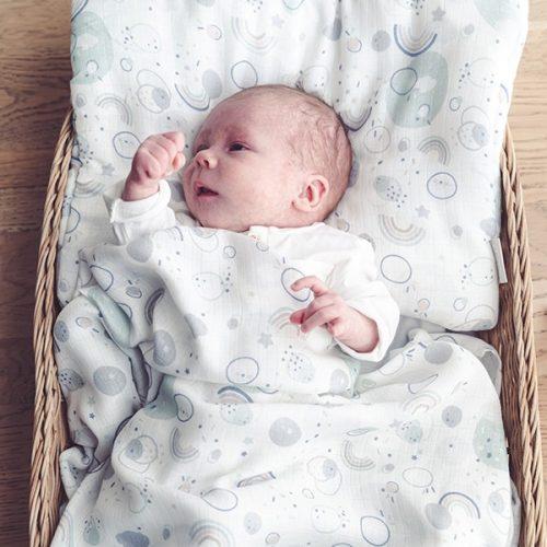 Otulacz muślinowy Snap otulacz dla niemowląt