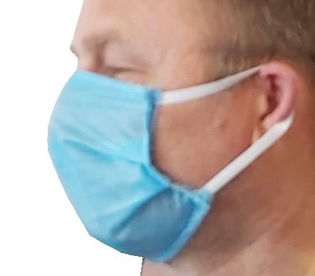 Maseczka ochronna 10 sztuk 4 wartstwy 75g maseczka na zakrywająca usta i nos