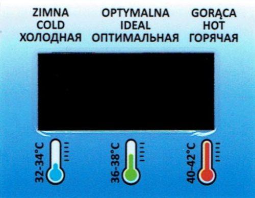 Termometr do wanienki przyklejany Tega Baby