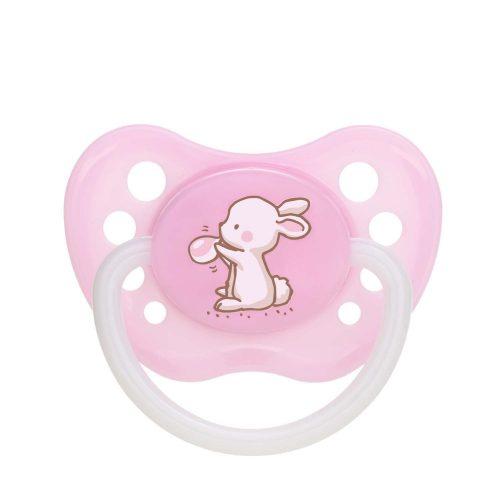 Silikonowy smoczek do uspokajania anatomiczny Little Cutie Canpol Babies 18m+ kolor Różowy