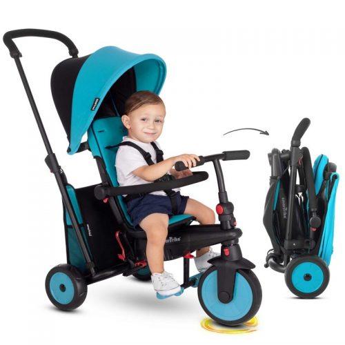 Rowerek trójkołowy Smnart Trike 6w1 składany niebieski