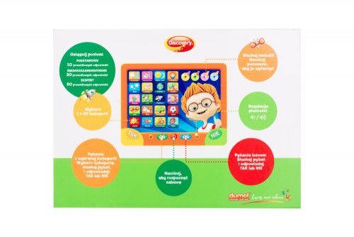 Tablet zabawka edukakcyjna mały expert Dumel Dd10038