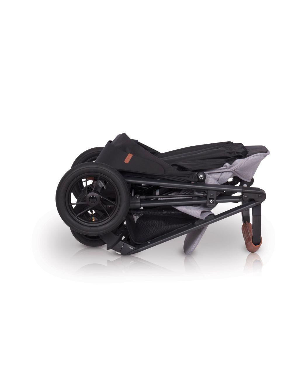 Lekki wózek spacerowy EasyGo Quantum AIR kolor Grey Fox