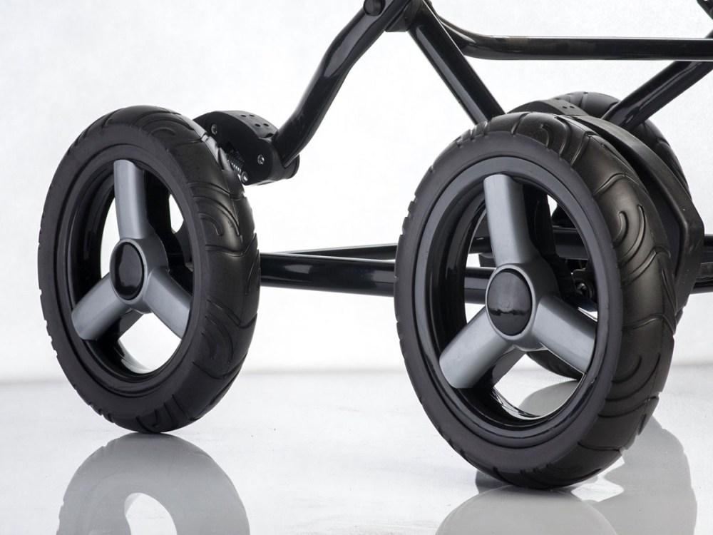 Piankowe koło do wózka dzieciecego tylne 28 cm bez hamulca