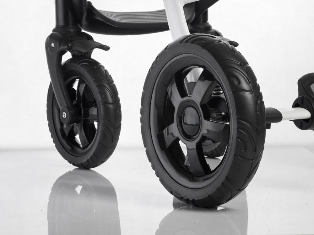Pompowane koło do wózka dziecięcego tylne czarny + czarny