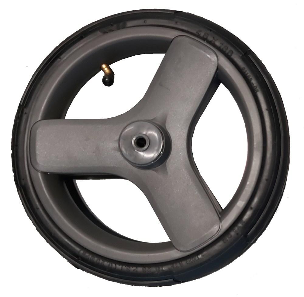 Przednie koło do wózka dziecięcego pompowane szare