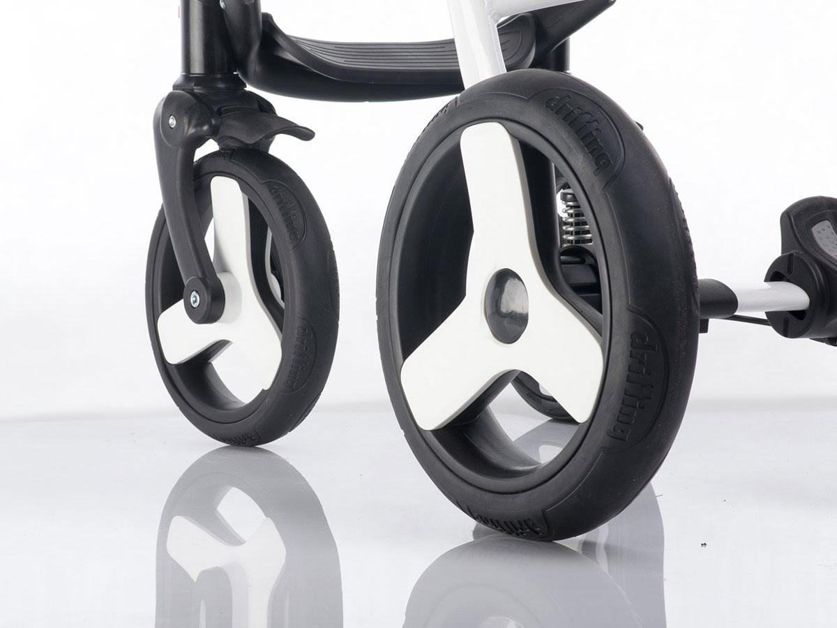 Piankowe tylne koło do wózka dziecięcego biały + czarny