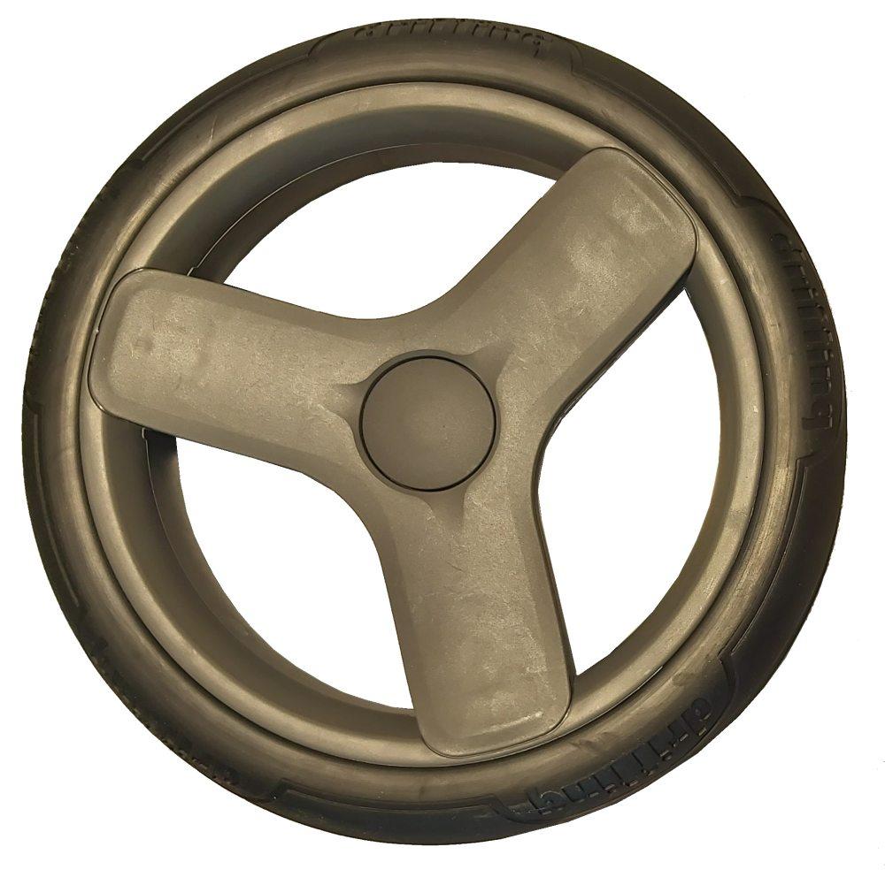 Piankowe tylne koło do wózka dziecięcego szary