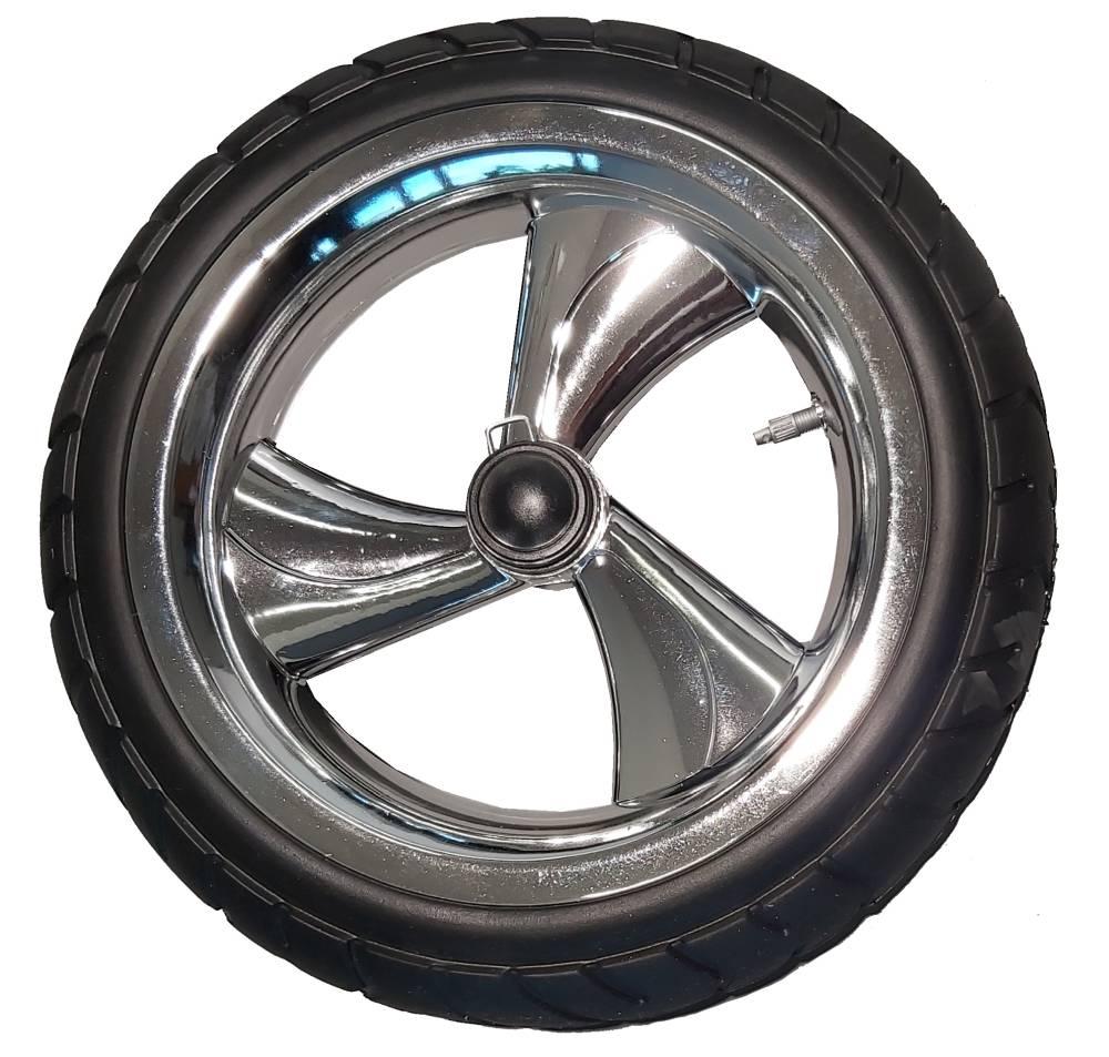 Tylne koło piankowe do wózka dzieciecego metalizowane