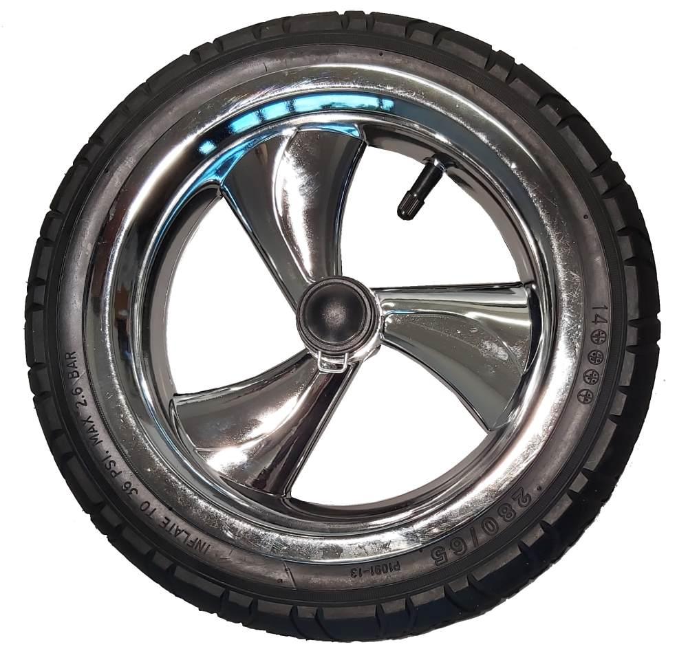 Przednie koło piankowe do wózka dzieciecego metalizowane