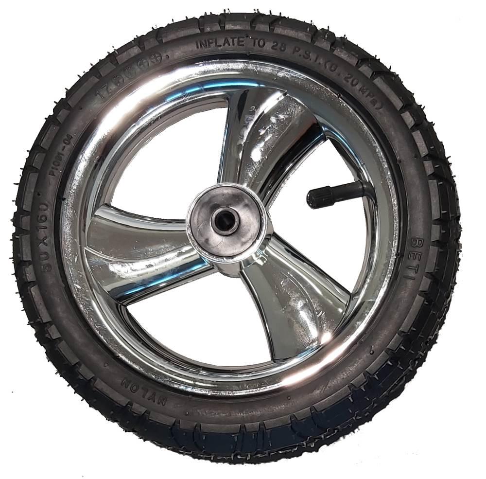Przednie koło pompowane do wózka dzieciecego metalizowane