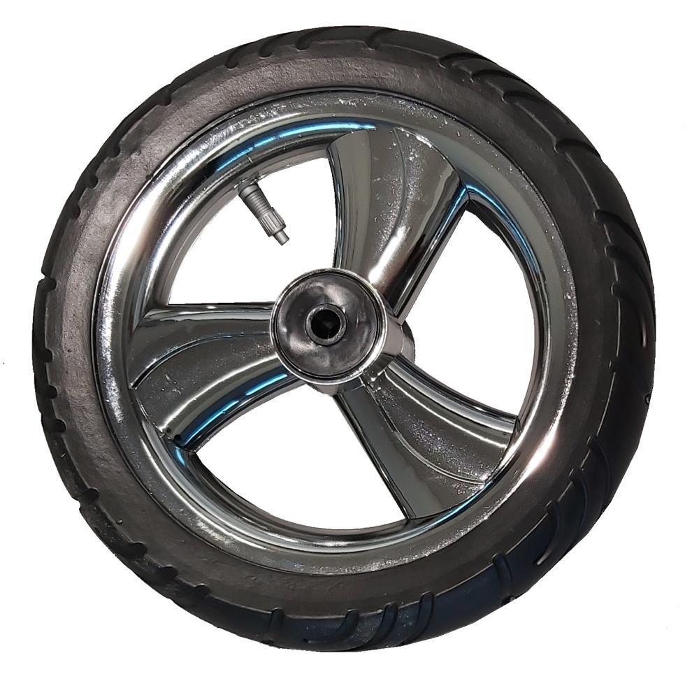 Tylne koło pompowane do wózka dzieciecego metalizowane
