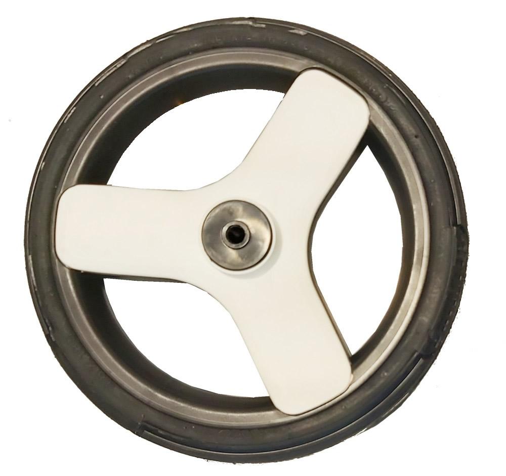Żelowe bezdętkowe koło do wózka tylne białe
