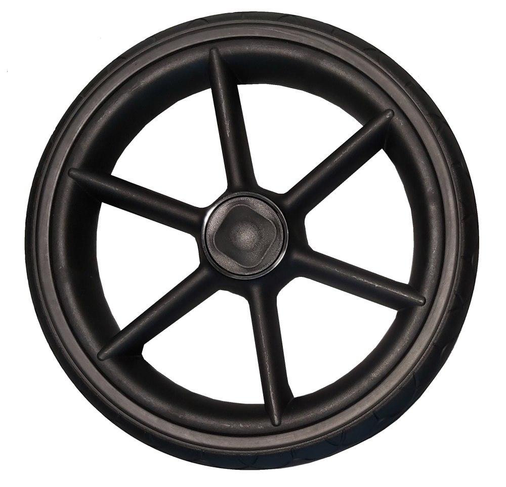 Żelowe koło bezdętkowe do wózków dziecięcych tylne czarne