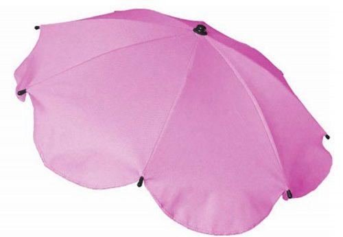 Parasolka przeciwsłoneczna do wózków dziecięcych jasny róż