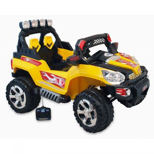 Samochód terenowy na akumulator dla dziecka żółty