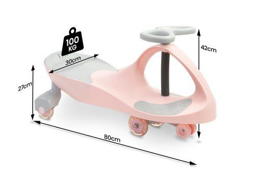 Jeździk grawitacyjny Spinner Toyz różowy