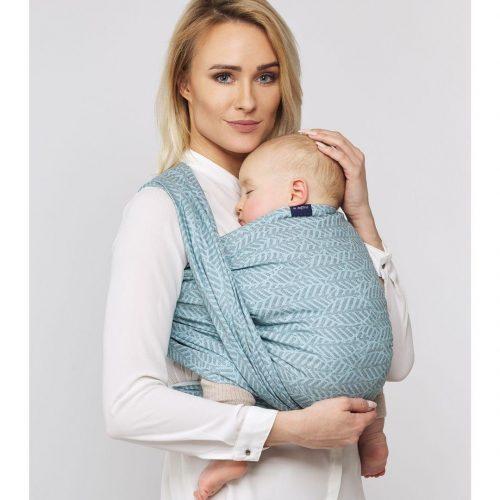 Chusta dla niemowląt chustonoszenie Womar n17 FGeo Burgund