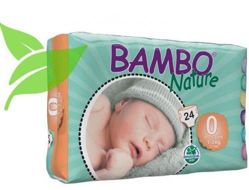 Pieluszki Bambo Nature bambusowe pieluszki jednorazowe Nr. 0 24szt  1-3kg