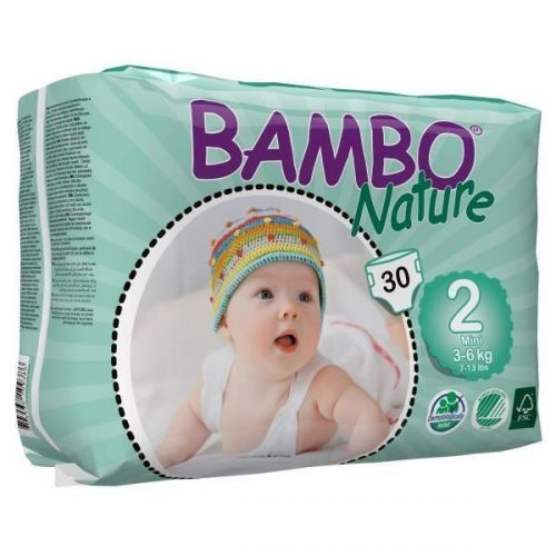 Bambo Nature pieluszki jednorazowe bambusowe nr2 3-6 kg 30szt