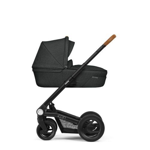 Wózek głęboko spacerowy Mutsy Icon zestaw 2w1 kolor Vision Urban Grey, rama Black Cognac