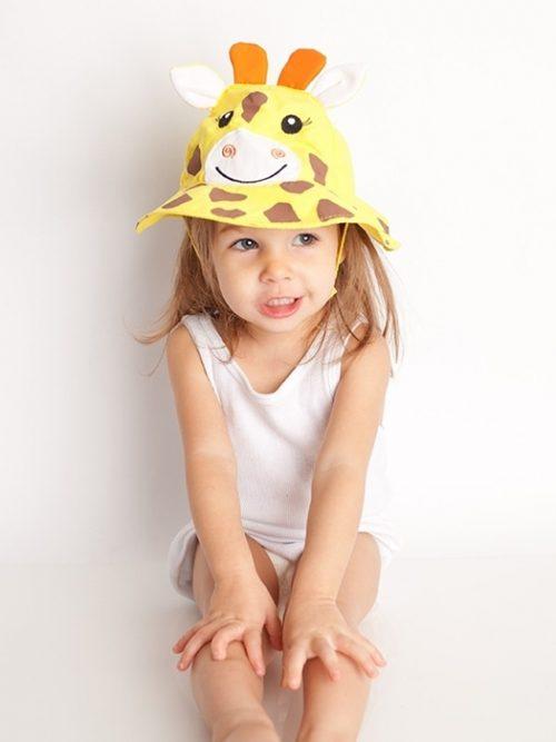 Zoocchin Letni kapelusz z filtrem Uv 50+ żyrafa L 12-24m