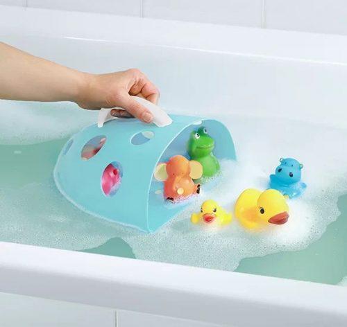 Pojemnik na zabawki kąpielowe Babyono łososiowy