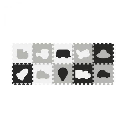 Puzzle piankowe czarno białe na podłogę 10szt pojazdy BabyOno