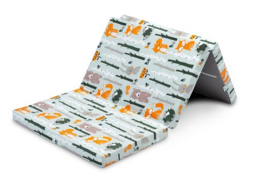 Składany materac turystyczny do łóżeczek Sensillo lis i zając