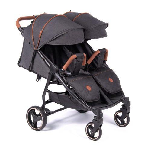 Wózek spacerowy dla bliźniąt Coletto Enzo Twin 2020 kolor Dark Grey