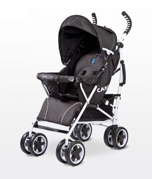 Spacerowy wózek dla dziecka Black Spacer Caretero