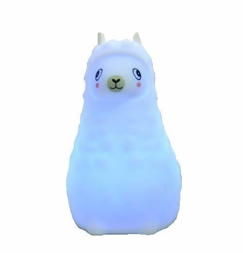 Silikonowa bezpieczna lampka nocna dla dzieci Innogio Gio-105 lama