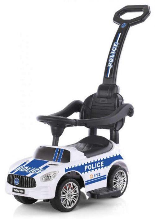 Jeździdło pchacz dla dzieci z raczką do pchania policja