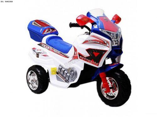 Motor dla dzieci na akumulator, motocykl dziecięcy biało niebieski