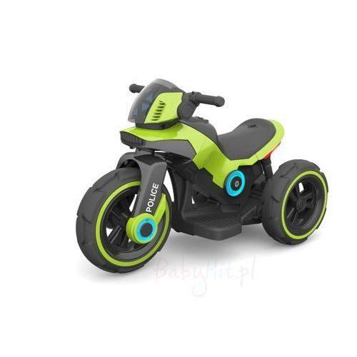 Motocykl na akumulator, motor dla dzieci 6V zielona policja
