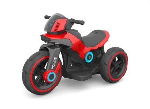 Motocykl na akumulator, motor dla dzieci 6V czerwona policja