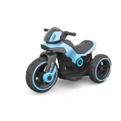 Motocykl na akumulator, motor dla dzieci 6V policja niebieska