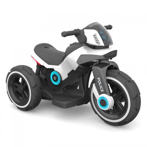 Motocykl na akumulator, motor dla dzieci 6V biały policja