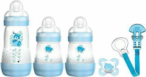 Zestaw do karmienia niemowląt startowy Mam Baby starter Set Niebieskie misie