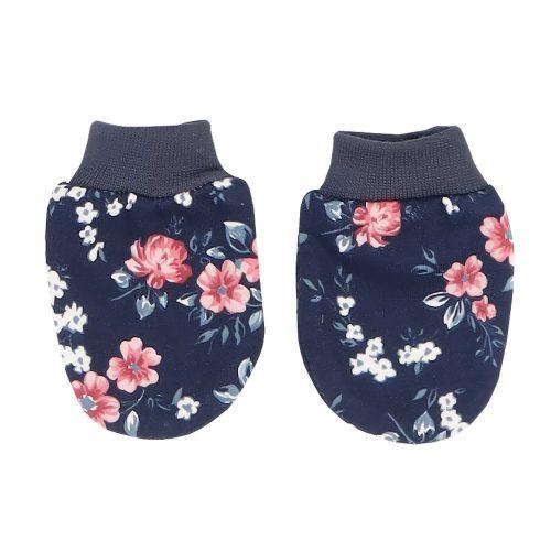 Mamatti rękawiczki dla niemowląt niedrapki Kwiaty