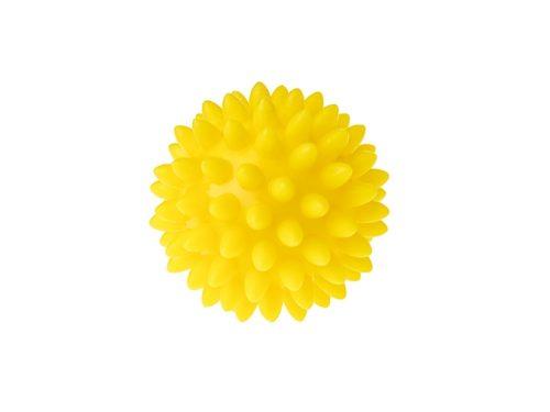 Piłka do rechabilitacji sensoryczna dla dzieci Tullo 5,4cm żółty