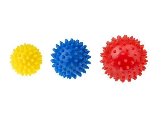 Zestaw 3 piłek do rehabilitacji, piłki sensoryczne Tullo