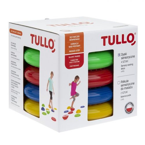 Dyski sensoryczne do rehabilitacji dzieci 4 szt Tullo