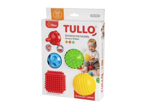 Zestaw 5 klocków do rehabilitacji dzieci klocki sensoryczne Tullo