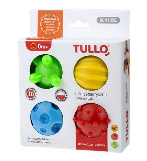 Zestaw do rehabilitacji dzieci klocki sensoryczne 4 szt Tullo