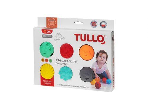 Piłki sensoryczne zestaw do rehabilitacji dzieci 6 szt Tullo