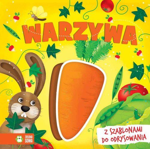 Książka dla dziecka z szablonami warzywa Zielona Sowa