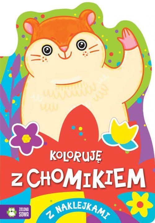 Kolorowanka dla dzieci koloruję z chomikiem