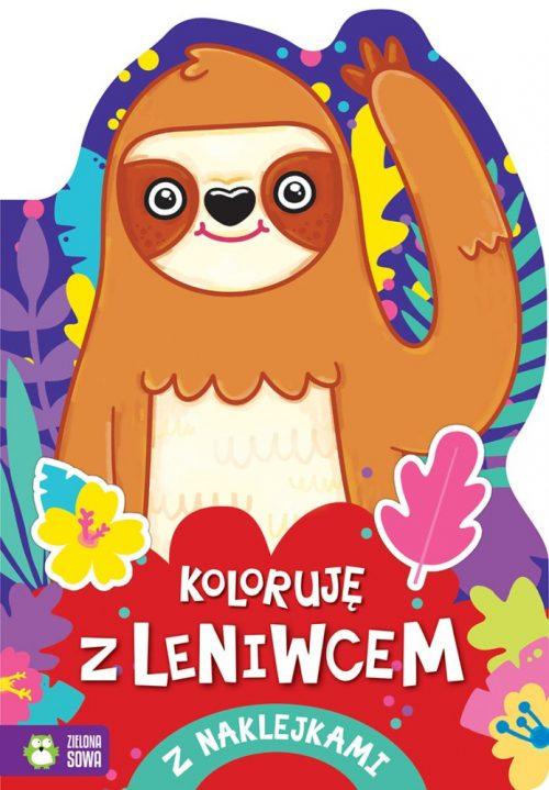 Kolorowanka dla dzieci koloruję z leniwcem Zielona Sowa